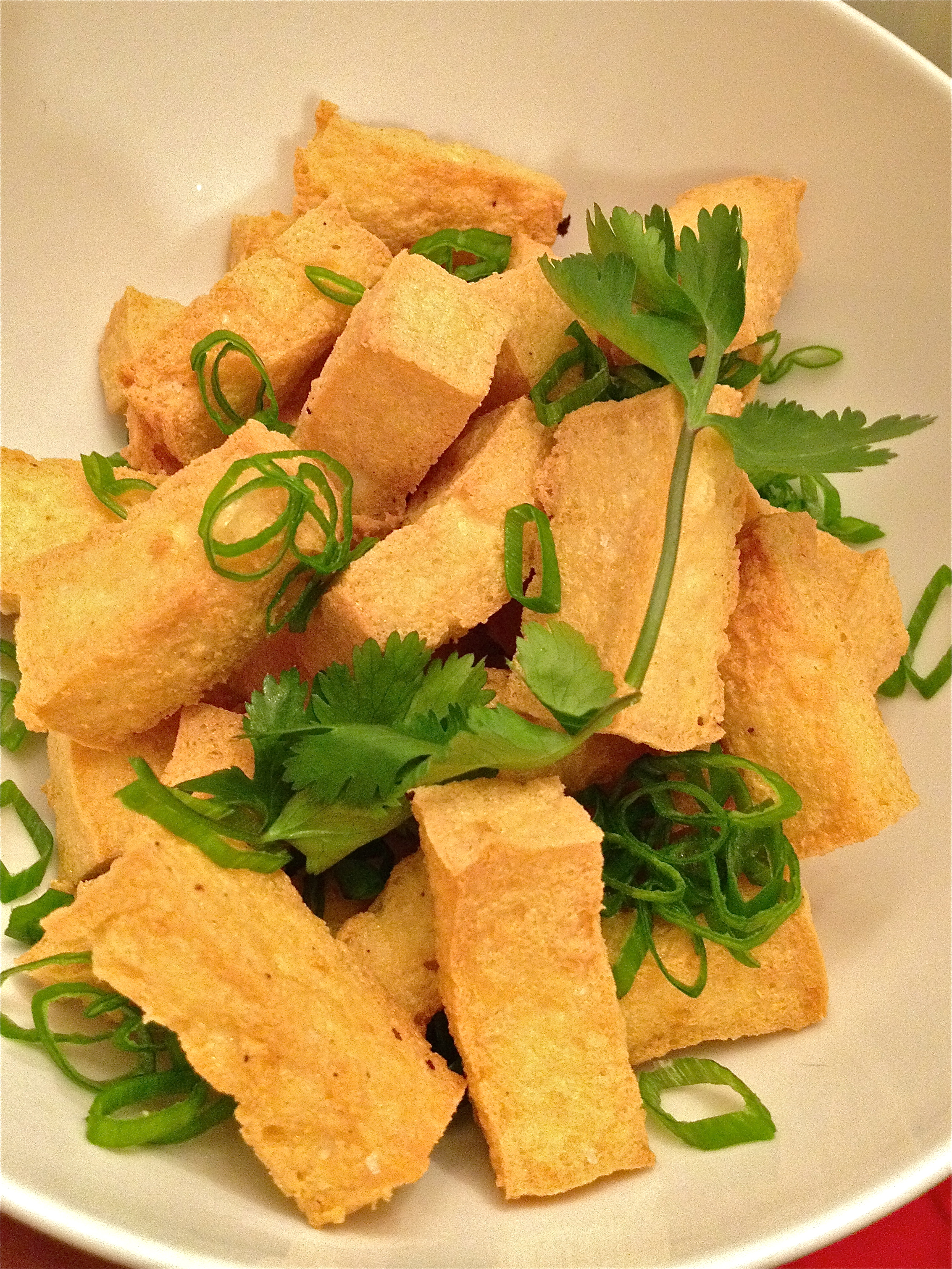asian style fried tofu