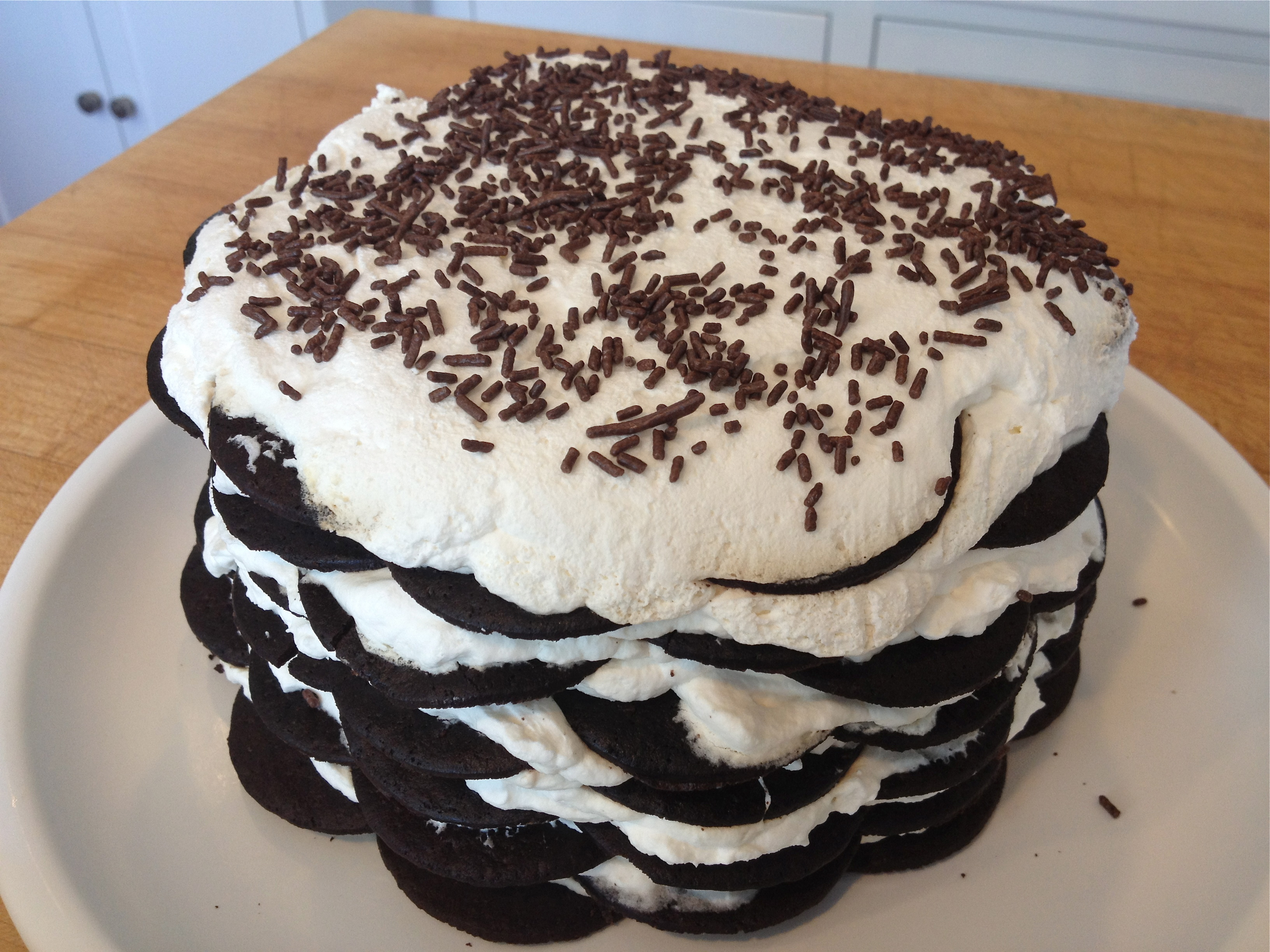 recipe: chocolate wafer ice cream cake [10]