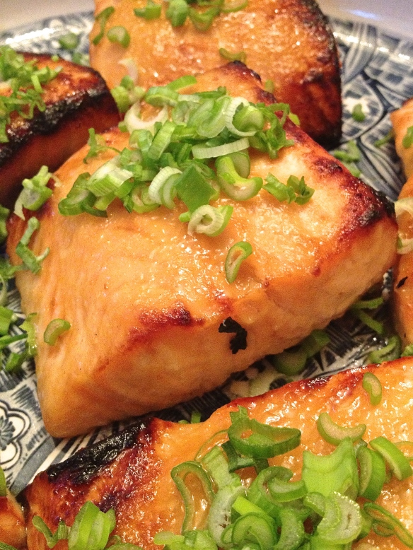 Me so hungry for miso salmon.
